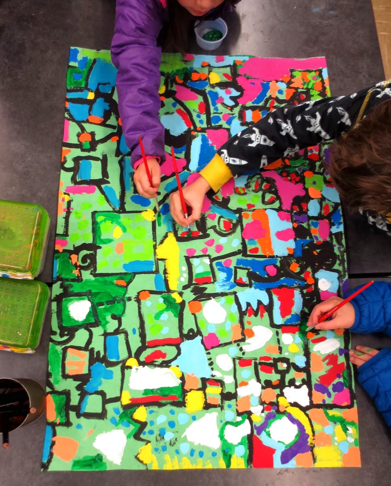 Zilker Elementary Art Class Kinder And First Grade Circle