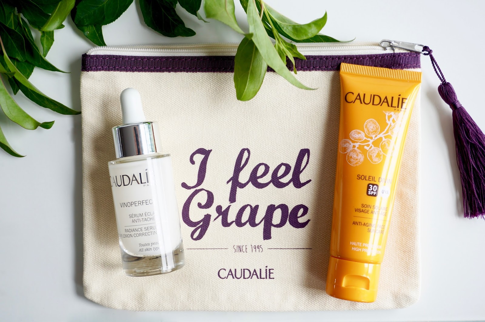 caudalie vinoperfect radiance serum and face spf30 giveaway.