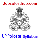 UP Police Sub Inspector Syllabus