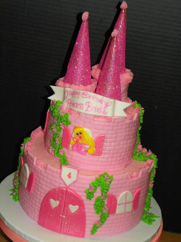 Plumeria Cake Studio Pink Princess Castle Cake With