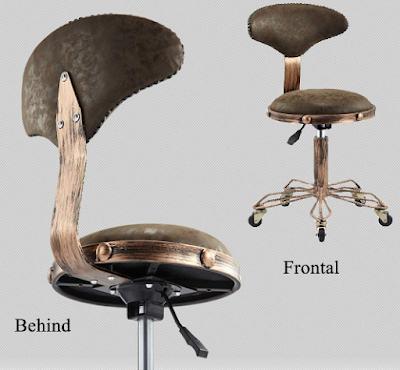 Vintage Industrial Style Salon Stool