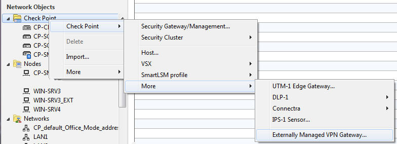 ThinGs-on-E: Check Point site-to-site VPN with full route
