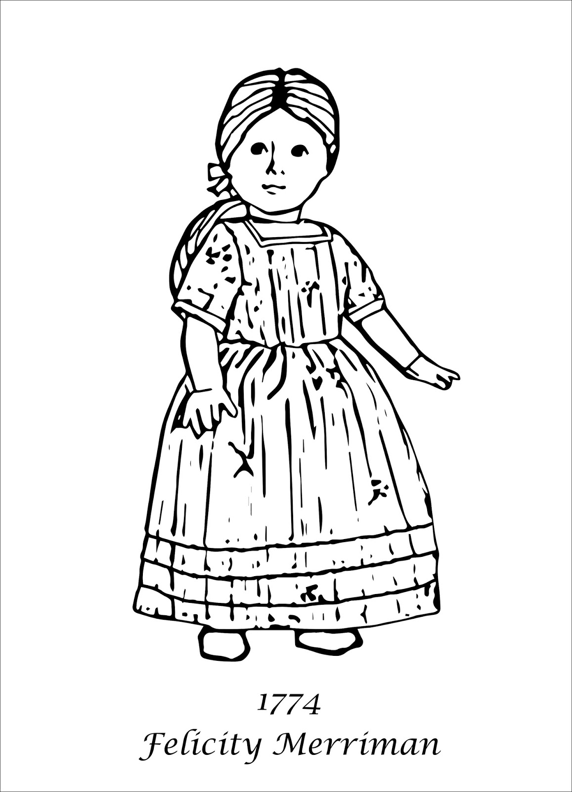american girl elizabeth coloring pages - photo#2