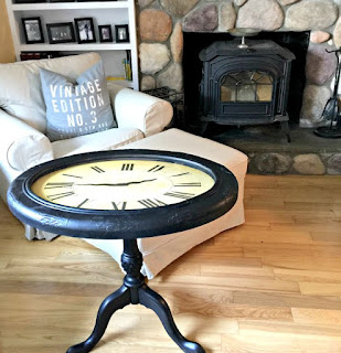 coffee table, wooden table, auxiliary table, clock table, construction table, old watch construction, recycling old clock, table-wood table, classic table, table, original table, living room furniture, deco ideas,