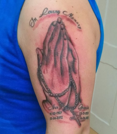 Loving Praying Tattoo