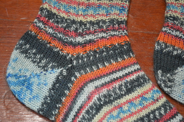 Short Row Heel -- Regia Arne & Carlos Fall Night