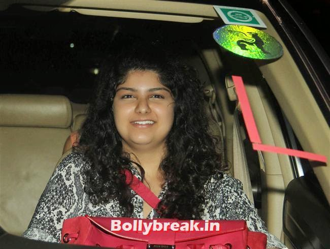 , Bollywood celebs Clicked in their Cars at 2 States Special Screening