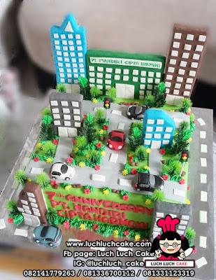 Kue Tart Bentuk Gedung - PT. Mandiri Cipta Harmoni