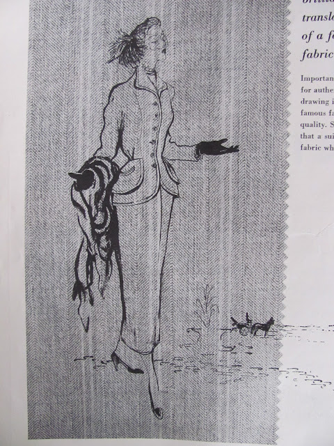 40s fashion illustration