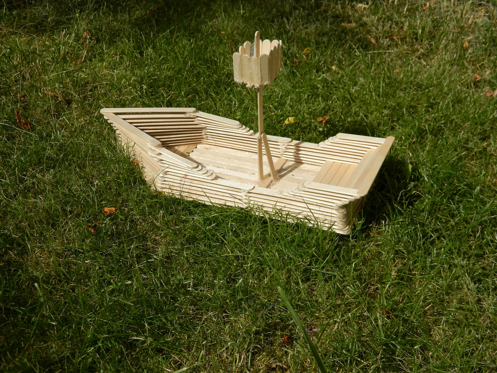 One Of A Kind Artz: The Popsicle Stick Boat