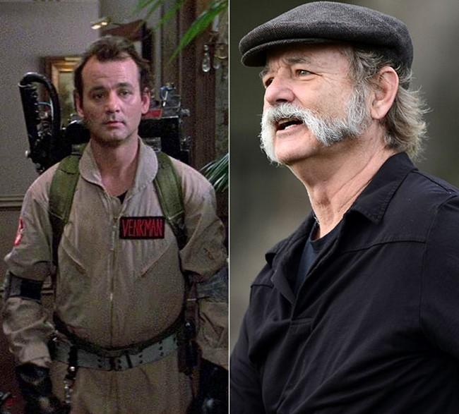 Os atores do filme Os Caça-Fantasmas antes e depois