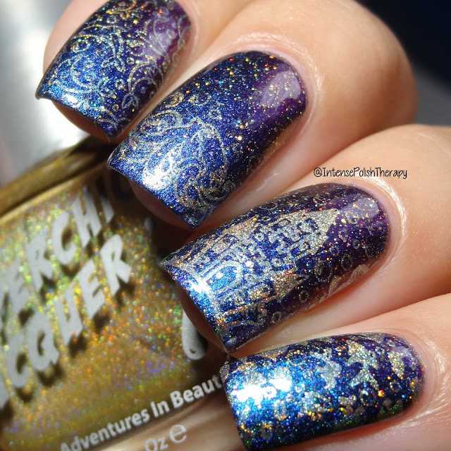 Fun Lacquer Frost(H), Stamping Plate BM-XL211 & Superchic Lacquer Wonderwall