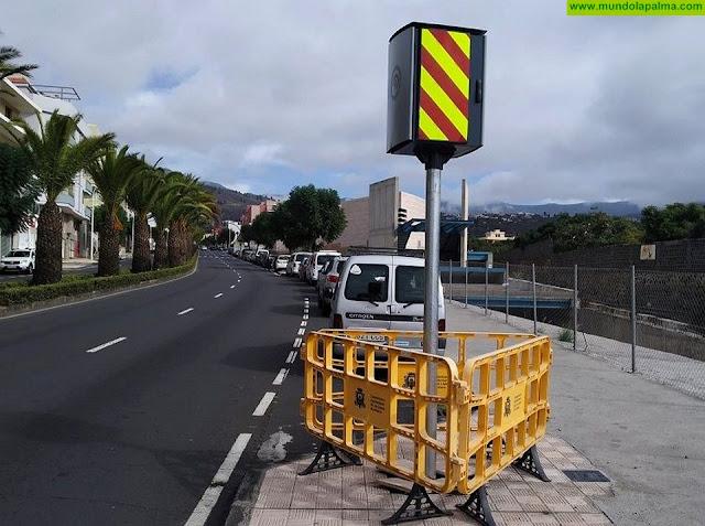 El Ayuntamiento de Los Llanos de Aridane instala dos radares fijos para mejorar la seguridad vial en el municipio
