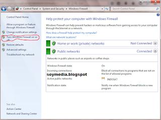 cara mengaktifkan firewall di windows