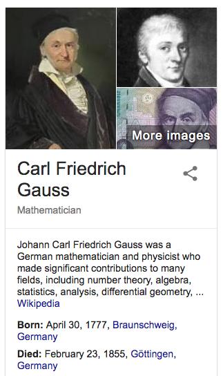 carl friedrich gauss contribution