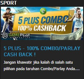 W88 || 5 PLUS - 100% COMBO/PARLAY CASH BACK ! || W88TIP