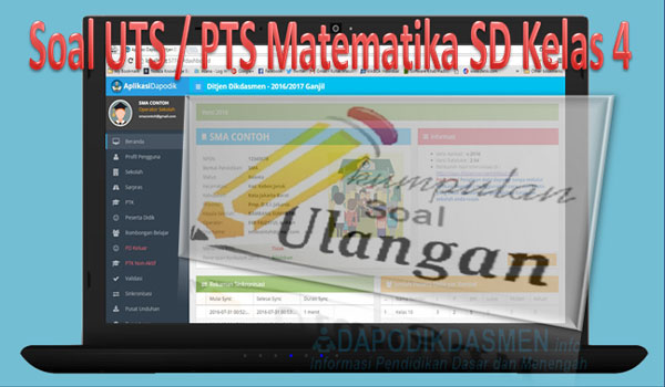 Soal UTS / PTS Matematika SD Kelas 4 Kurikulum 2013