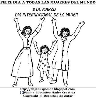 Dibujo del Día Internacional de la Mujer para colorear