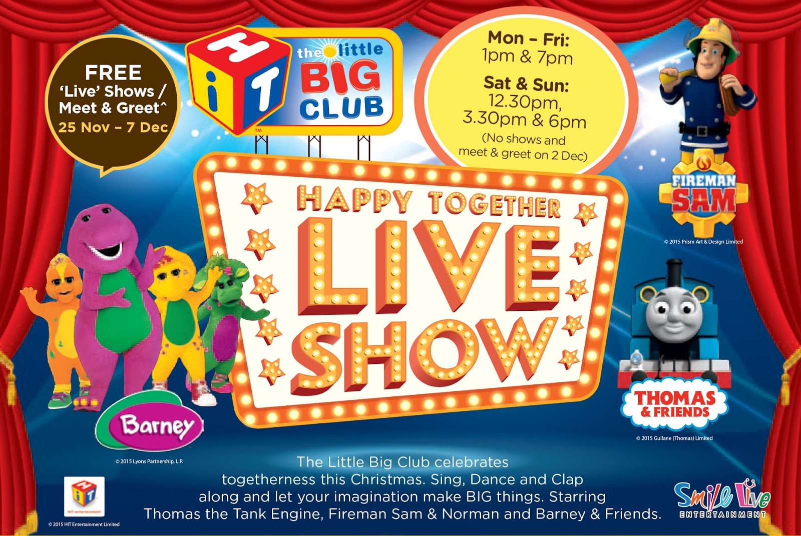Year end school holiday activities for kids 2015 the - The little club ...