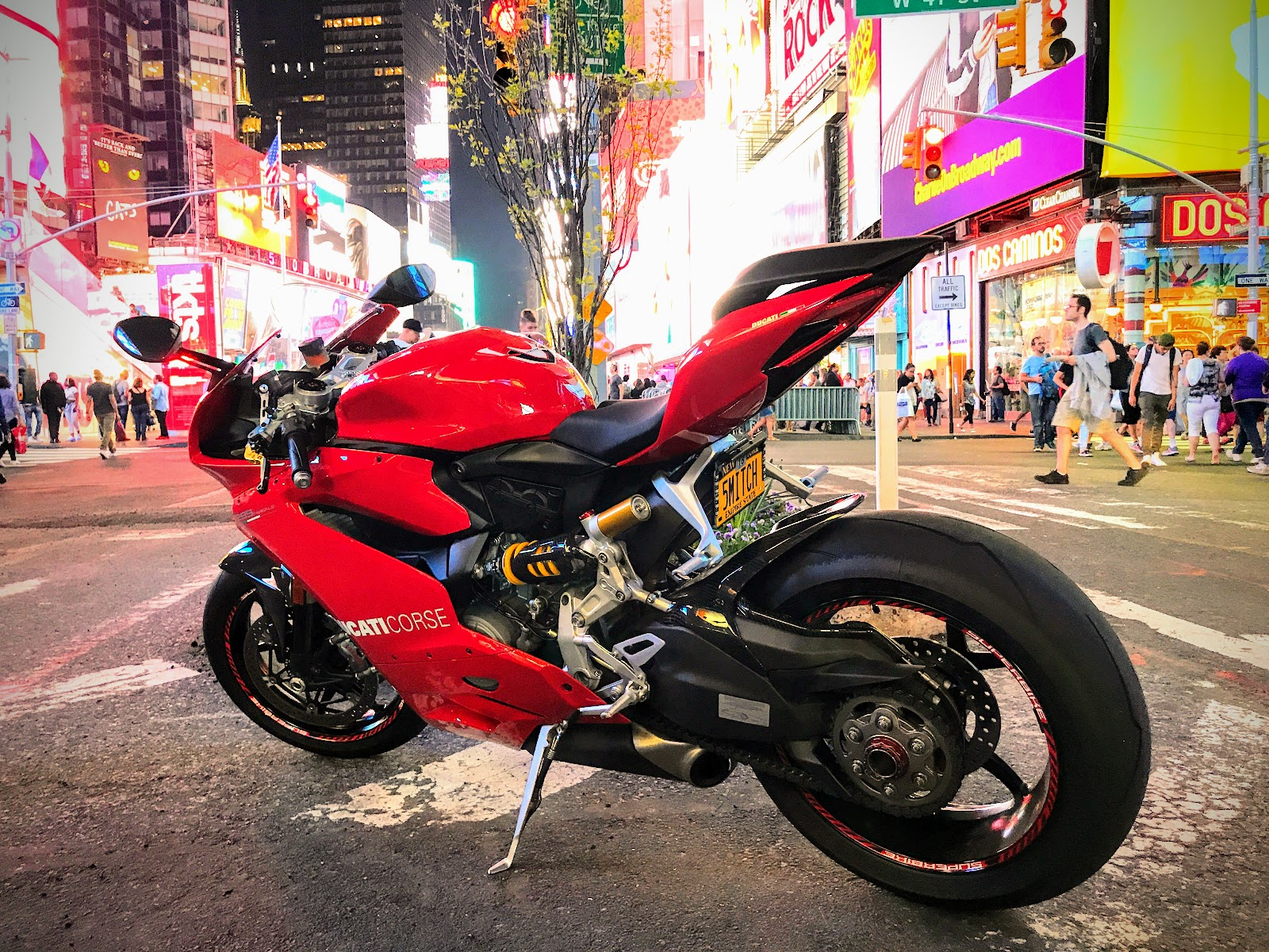 Gotham Ducati Owners Club Broadway New York City