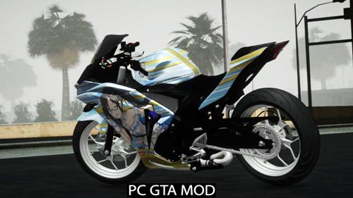 Free Download Yamaha R25 Mitsumine Itasha Mod for GTA San Andreas.
