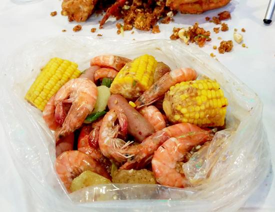 Shrimps in Sambal Paste, Blue Posts Boiling Crabs and Shrimps
