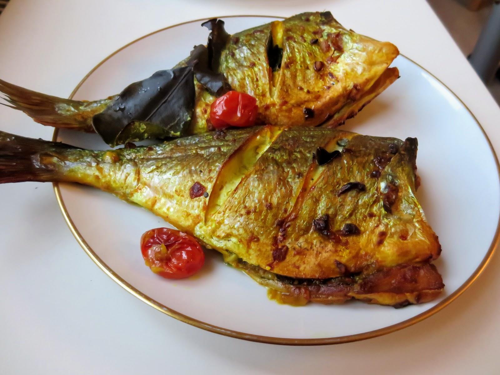 Gelbe Marinade für Fisch Grillen indonesisch kochen