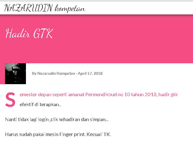 Daftar hadir GTK pakai Finger Print