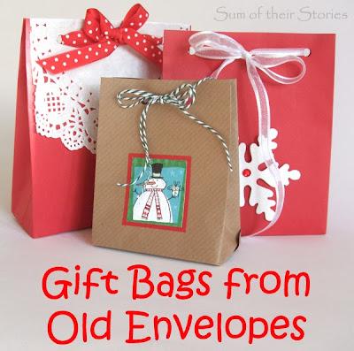 envelope to gift bag
