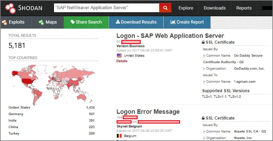 Inspirational Figura B squeda de sistemas SAP NetWeaver en Shodan
