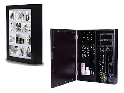Get the Wall Mounted Jewelry Organizer with Photo Frame at Nile Corp