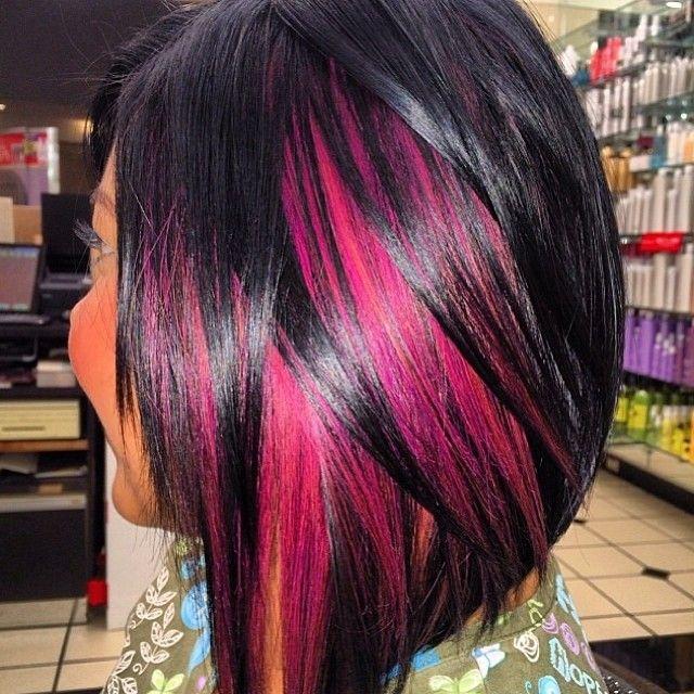 Pretty Pink Highlights The Haircut Web