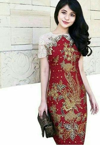 Model Baju Batik Kombinasi Brokat Terbaru