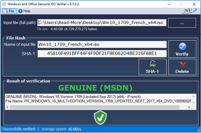 فحص الويندوز الخاص بك هل هو أصلي أم لا من خلال برنامج Windows and Office Genuine ISO Verifier