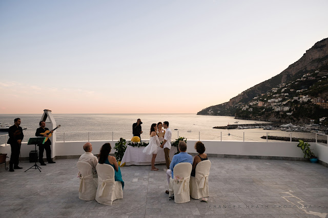 Wedding ceremony overlooking Amalfi