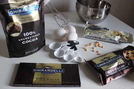 Ghirardelli Chocolate Pumpkin Pecan Brownie Recipe Baking Ingredients