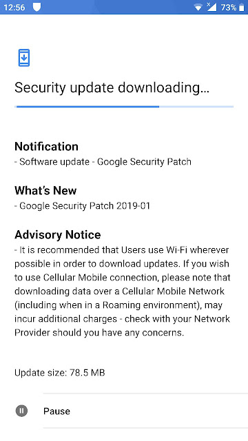 Nokia 8 receiving January 2019 Android Security update