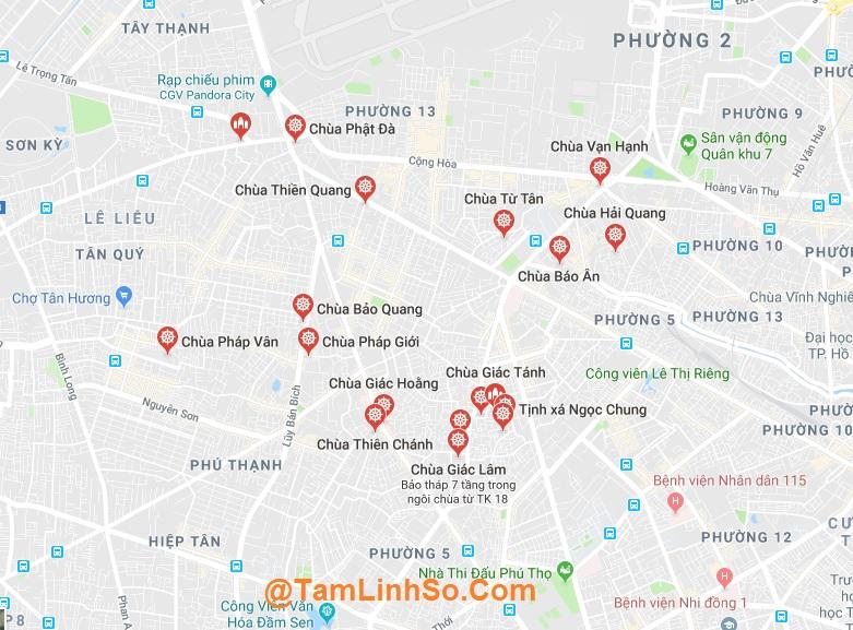 Quận Tân Bình là quận có nhiều ngôi chùa ở khu vực phía Tây Sài Gòn