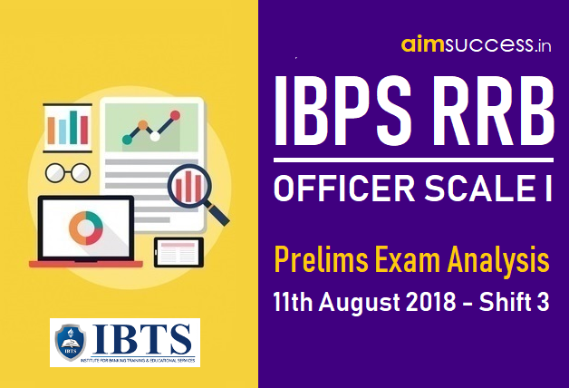 IBPS RRB Officer Scale I Prelims Exam Analysis 11th August 2018 - Shift 03
