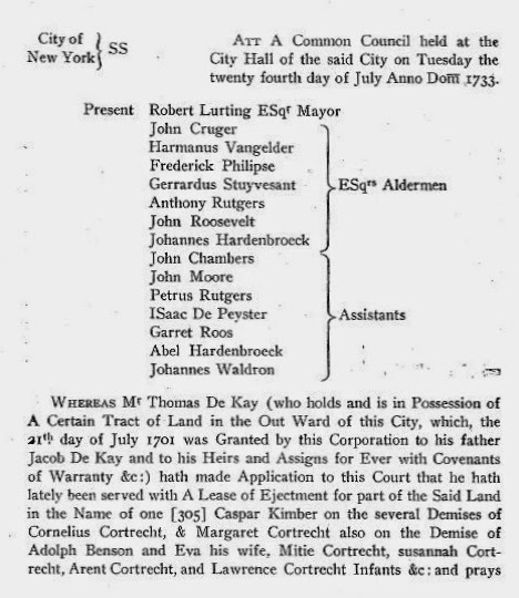 Minutes of the Common Council of the City of New York, Vol IV, pag 185