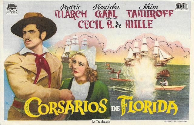 Corsarios de Florida - Programa de Cine - Fredric March - Akim Tamiroff