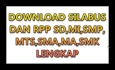 Perangkat Pembelajaran Silabus dan RPP Kurikulum 2013 SD,MI,SMP,MTS,SMA,MA,SMK LENGKAP