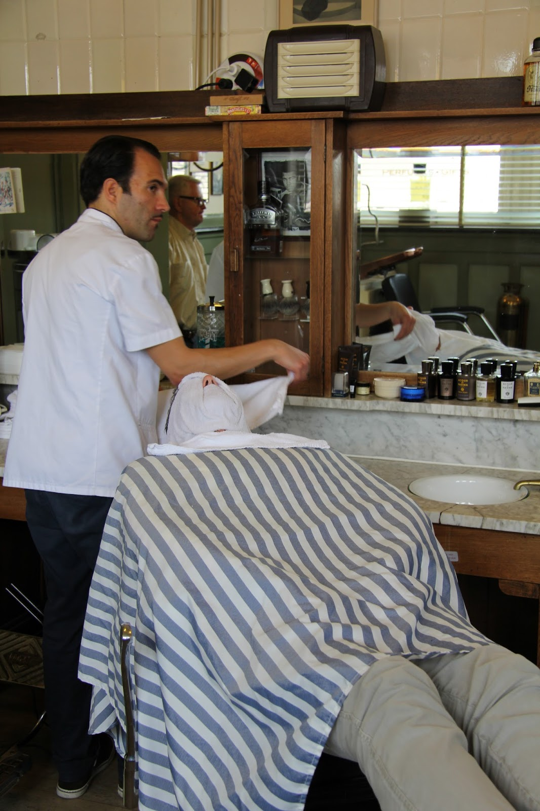 CHADS DRYGOODS CHAD GETS AN ITALIAN SHAVE  NEW YORK