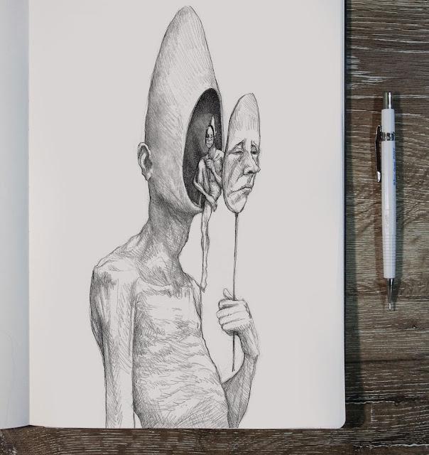 notas visuais susano correia homem mascara sentado na cara de um homem para sempre