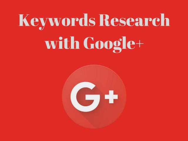 Google+ Keywords Research