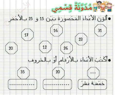 التقويم التشخيصي المستوى الثاني اللغة العربية الرياضيات