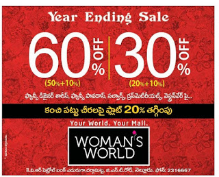 WOMANS WORLD YEAR ENDING SALE