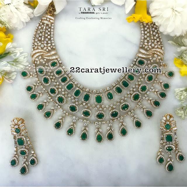 Handcrafted Diamond Emerald Sets by Tibarumal