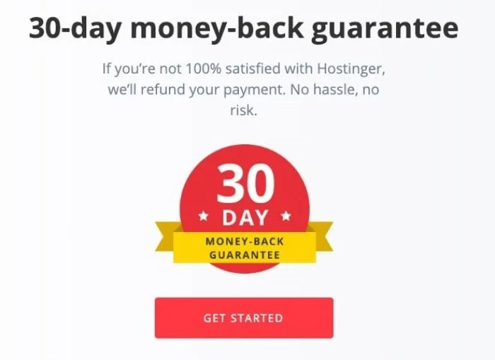 Hostinger money back guarantee
