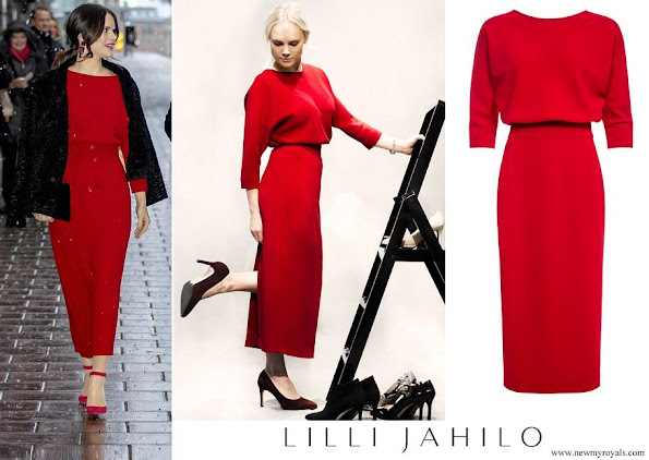 Princess Sofia wore Lilli Jahilo Adele Long Sleeve Midi Dress